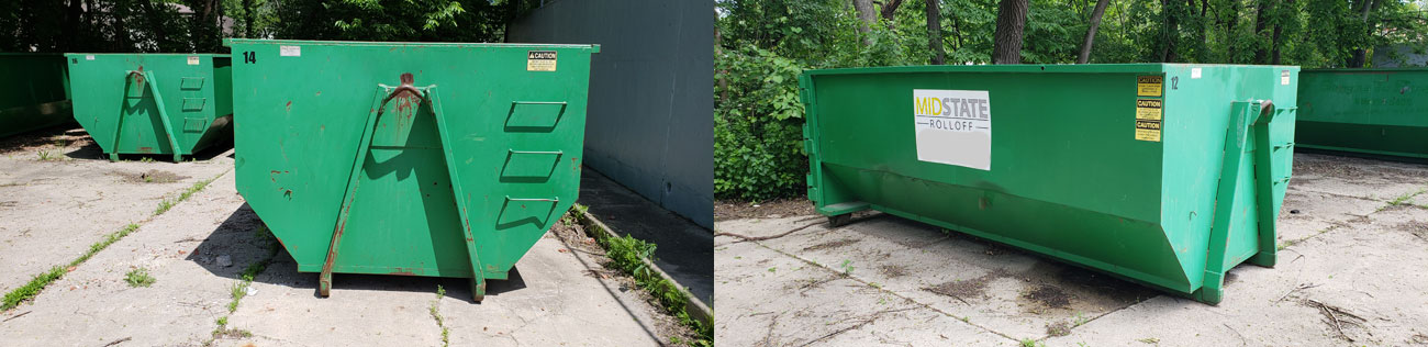 Dumpster rental in Des Moines IA, from Midstate Rolloff, LLC